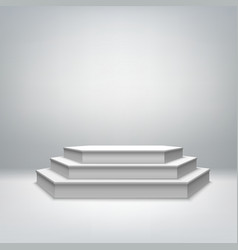 Blank white stage podium vector image