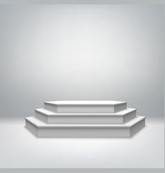 Blank white stage podium vector