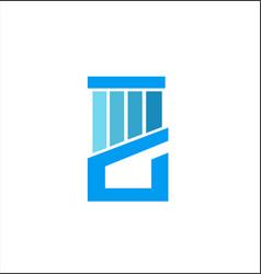 blue concept pillar company logo vector image