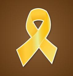 Breast cancer ribbon gold symbol vector