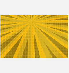 bright yellow striped retro comic background vector image
