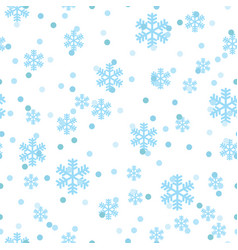 christmas snowflakes network seamless pattern vector image