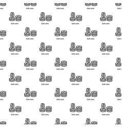 coin pattern seamless vector image