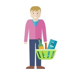 Customer Man Character vector image