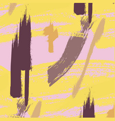 Dirty paintbrush pattern creative vintage dynamic vector