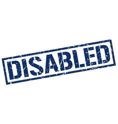 Disabled stamp vector