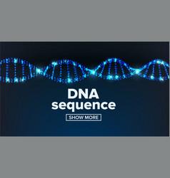 Dna structure medical banner chemistry vector