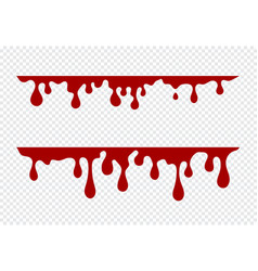 dripping paint set liquid drips paint flows vector image