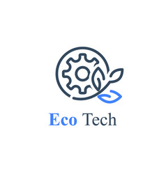 Eco technology green production industry vector