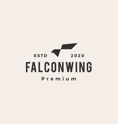 falcon wing hipster vintage logo icon vector image