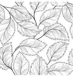 floral seamless pattern graden leaves tile drawn vector image