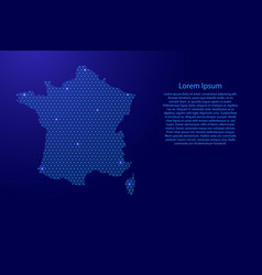 france map abstract schematic from blue lines vector image