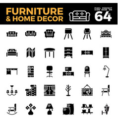 furniture and home decor solid icon vector image