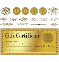 Gift certificate set vector image