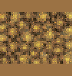 gold abstract background with geometric shapes vector image