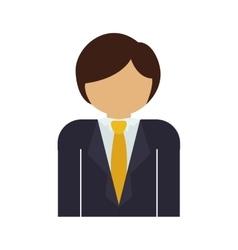 Half body man with formal suit and necktie vector