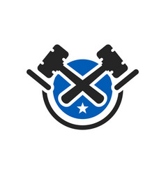 hammer judge and law logo vector image