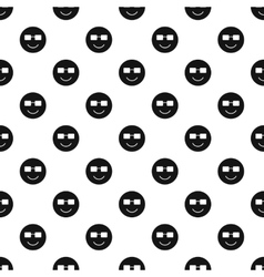 Happy smiley pattern simple style vector