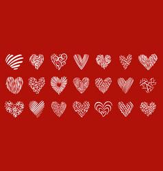 heart love romantic valentine day sign icon vector image