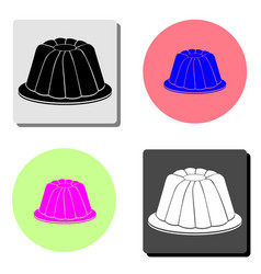 jelly pudding flat icon vector image