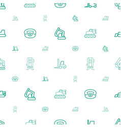 Land icons pattern seamless white background vector