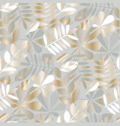 Luxury geometric fall leaves seamless pattern vector