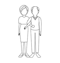Married couple old vector