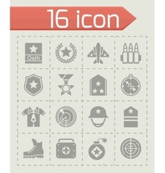 Military icon set vector