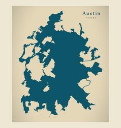 modern city map - austin texas city of the usa vector image