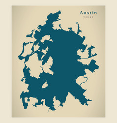 Modern city map - austin texas city usa vector