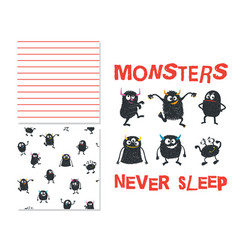 Monsters never sleep vector