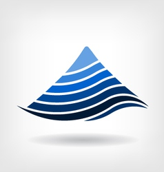Mountain in layers logo vector image vector image
