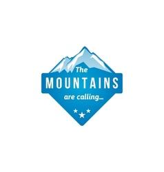Mountain label vector
