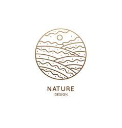 Nature linear logo vector