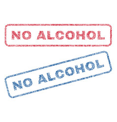 No alcohol textile stamps vector