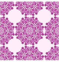 ornament beautiful seamless pattern with mandala vector image