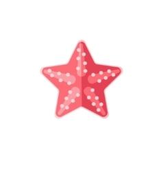 Pink Starfish Primitive Style Childish Sticker vector