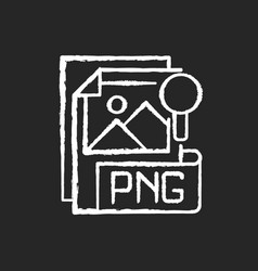 Png file chalk white icon on black background vector