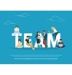 Project teamwork concept of business vector