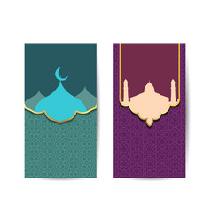 ramadan kareem greeting card template for islamic vector image