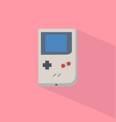 retro game player with pastel background vector image