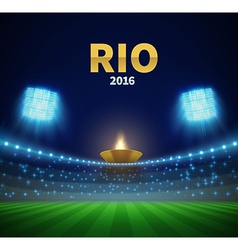 rio games stadium with torch eps 10 vector image