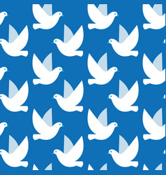 seamless pattern with birds simple texture vector image