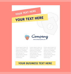 secure cloud title page design for company vector image