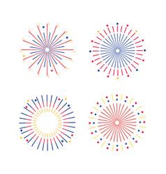 set fireworks explotion to holiday celebration vector image