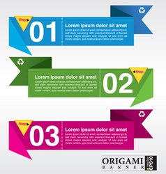 set of origami paper banners EPS 10 vector image