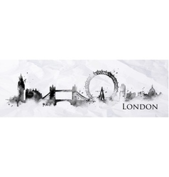 Silhouette ink london vector