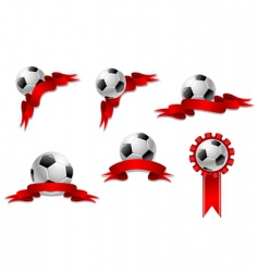soccer and football ball vector image