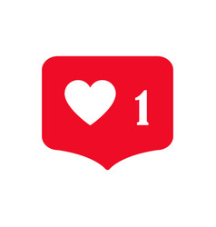 social media icon heart simple vector image
