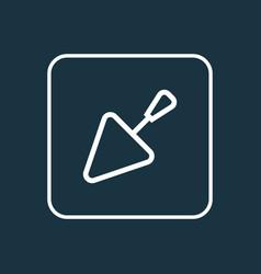 Spatula outline symbol premium quality isolated vector